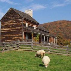 Old colonial farmhouse near Staunton, Virginia