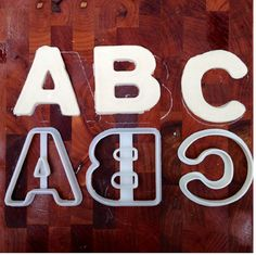 Uppercase Alphabet Cookie Cutters Letters by CavidDesigns on Etsy