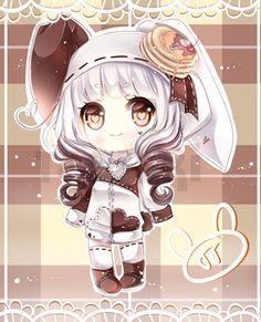 petit petit :D #mijou #oc #manga #chibi #kawaii #moe #shojo #girl #bunny #hoodie #digital #pts #painttool #sai #ocs