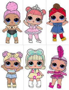 Le plus chaud Photos lol para imprimir Concepts Glitter Party Decorations, Birthday Party Decorations, Party Themes, 6th Birthday Parties, 7th Birthday, Birthday Cake, Surprise Images, Lol Doll Cake, Doll Party