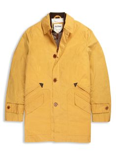 Plectrum Single Breasted Coat | Bright Gold | Ben Sherman