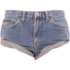 One Teaspoon Salvage Denim Bandit Short ($108) ❤ liked on Polyvore featuring shorts, bottoms, short, hot pants, mini short shorts, destroyed shorts, ripped denim shorts and micro shorts