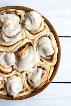 Easy Fluffy Eggnog Cinnamon Rolls via Half Baked Harvest Yummy Treats, Sweet Treats, Yummy Food, Half Baked Harvest, Macaron, Cinnamon Rolls, I Love Food, Holiday Recipes, The Best