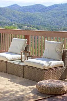 Our Outdoor Oasis: Ikea's ARHOLMA set - nice arrangement to keep things feeling open, with a place to set dishes in between each seat Outdoor Spaces, Outdoor Living, Outdoor Decor, Outdoor Ideas, Outdoor Furniture, Ikea Inspiration, Travel Inspiration, Wicker Ottoman, Courtyards