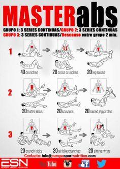 Master ABS : Tu entrenamiento definitivo para marcar los abdominales- Aplicalo durante 6 semanas y verás unos resultados increíbles