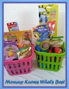 101 easter basket ideas for babies and toddlers that arent candy easter basket ideas for toddlers and preschoolers via mommy knows whats best negle Images