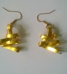 Gold flat aluminium mountian climb earring---TRJ