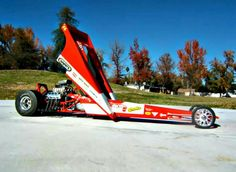 "Don ""Snake"" Prudhomme's '72 'wedge' top fuel dragster."