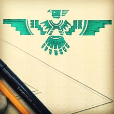 native american thunderbird - means unlimited happiness Native American Tattoos, Native Tattoos, Native American Symbols, Eagle Tattoos, Native American Design, Feather Tattoos, Body Art Tattoos, Sleeve Tattoos, Aztec Eagle Tattoo