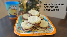 Homemade Frozen Banana Ice Cream Sandwiches inspired by Minions. Pick it up at your local retailers today! #ad #homemade #dessert #MinionsMovieNight #CollectiveBias