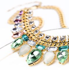 Chic Light Color Faux Crystal Waterdrop Pendant Alloy Necklace For Women (AS THE PICTURE) | Sammydress.com