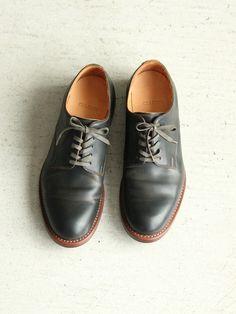 Plane Toe Oxford Shoes(Cordvan)