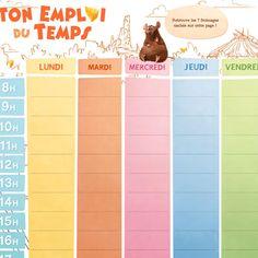 Prépare la rentrée en imprimant ton calendrier et ton emploi du temps Ratatouille !