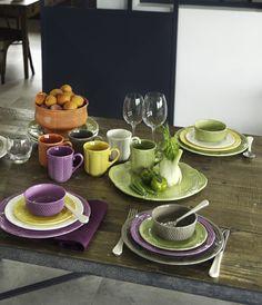 """Zastawa stołowa - Faïencerie de Gien - """"Collection Pont aux choux coloré"""""""