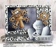 """Clearly Whimsy Stamps Collection """"Going Catty"""" illustrated by Dustin Pike for Whimsy Stamps.High quality photopolymer clear stamps, use with an acrylic block Approximate size in inches: 4 x 6 polymer sheet. Cool Things To Make, Old Things, Beautiful Christmas Cards, Whimsy Stamps, Cat Cards, Crazy Dog, Stamp Collecting, Halloween Cards, Digital Stamps"""