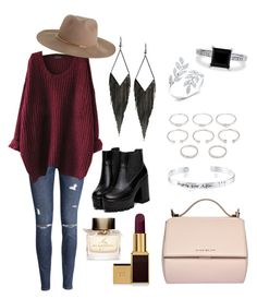 """""""Casual fall date"""" by ria-kumalasari-damayanti ❤ liked on Polyvore featuring H&M, GUESS, Forever 21, Disney, BERRICLE, Tom Ford, Burberry, Givenchy and Zimmermann"""
