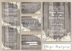 SALE - DIY Printable Wedding Invitation: Rustic- The Christine. $60.00, via Etsy.