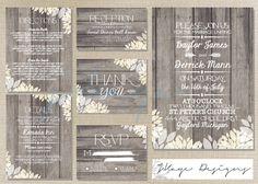 DIY Printable Wedding Invitation: Rustic- The Christine