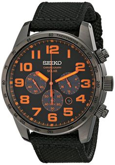 Seiko Men's SSC233 Sport Solar Analog Display Japanese Quartz Brown Watch