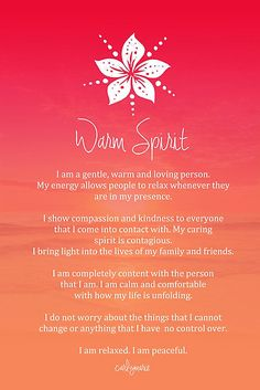 Affirmation - Warm Spirit by CarlyMarie