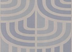 Espiga (1962-3) - Tres Tintas Wallpapers - A funky geometric and structured design shown in a metallic pale blue and silver. A washable wallcovering by Spanish designers.