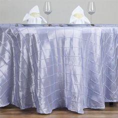 Wholesale Lavender Pintuck Tablecloths For Wedding Party Event Decoration 120 Round Tablecloth, Tablecloth Sizes, Tablecloths, Chair Covers, Table Covers, Lavender Wedding Decorations, Pin Tucks, Table Linens, Event Decor