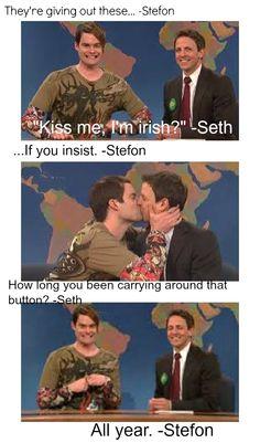 SNL St. patricks day :) FAVORITE WEEKEND UPDATE EVER. i miss stefon!