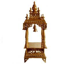 India Home Decor, Hindu Statues, Pooja Room Design, Home Temple, Krishna Statue, Puja Room, Brass Statues, Buy Furniture Online, Brass Metal