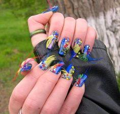 shweshwe dresses 2017 and the latest nail art Feather Nail Designs, Feather Nails, Simple Nail Art Designs, Latest Nail Art, New Nail Art, Easy Nail Art, Nail Art 2014, Nail Art Design Gallery, Art Gallery
