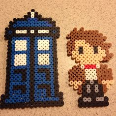 11th Doctor and Tardis - Doctor Who perler beads by pickyniki7