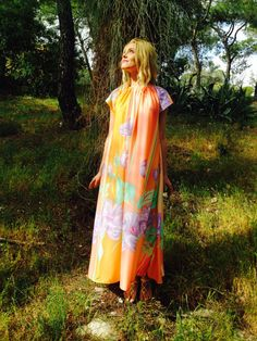 Fay Dress/Tropical Flower Dress/Hippie by LydiaLoveVtg on Etsy