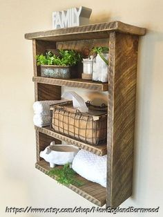 This elegantly primitive and Rustic Farmhouse Shelf is a great rustic home decor. - This elegantly primitive and Rustic Farmhouse Shelf is a great rustic home decor idea. Primitive Homes, Primitive Bathrooms, Primitive Kitchen, Primitive Decor, Primitive Country, Country Bathrooms, Chic Bathrooms, Rustic Kitchen, Modern Rustic