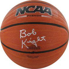 Bob Knight Signed NCAA Wave Basketball (Silver)