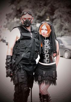 Cyber Goth couple