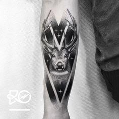 By RO. Robert Pavez • Sweet Deer • Studio Nice tattoo - Stockholm - Sweden 2017