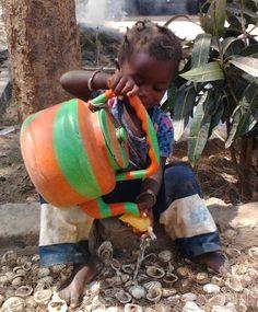 Gambia waar ijsjes in plastic zakjes worden verkocht
