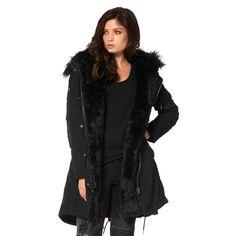 Parka à capuche Laura Scott avec gilet à capuche imitation fourrure amovible prix Parka Femme 3 Suisses 149.99 €