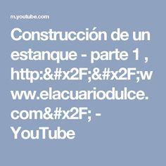Construcción de un estanque - parte 1 , http://www.elacuariodulce.com/ - YouTube
