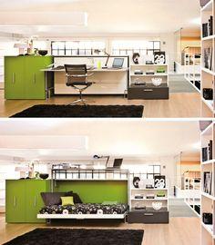 Outra ideia superbacana para home offices funcionais. O Modelo Cabrio, também da…