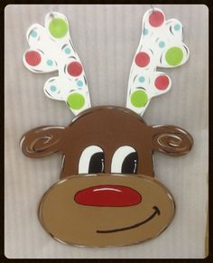 Reindeer Door Hanger,christmas Door Hanger,christmas Door Decor,whimsical Door…