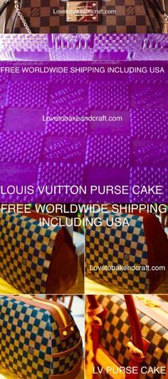 How to make a Louis Vuitton handbag cake Cake Moulds, Fondant Molds, Louis Vuitton Cake, Cupcake Mold, Logo Cookies, Cake Stencil, Handbag Cakes, Cake Topper Tutorial, How To Make Purses