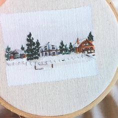 """390 Likes, 4 Comments - Jordan Harmon Fine Art (@jharmonart) on Instagram: """"Wanted to post a close up of that last embroidery. The cabin I stayed at in Tahoe had a lake in the…"""""""