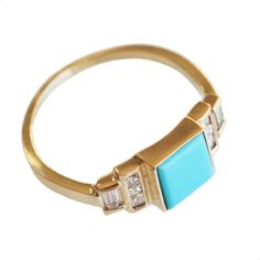 ... because I only wear jewelry given to me by someone else. (Square turquoise ring by Mociun)