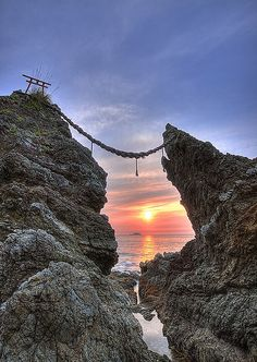 Japan - The rocks had been together for so long that the people thought they should be married.