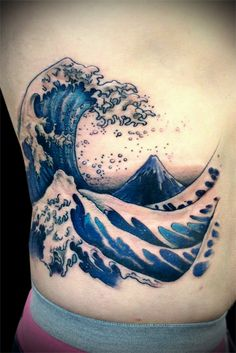 Hokusai Great Wave Tattoo By Calico1225 On Deviantart Design 429x642 Pixel