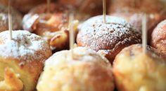 Andeskiver - som æbleskiver med med anderillette inden i - fra Brødrene Price Doughnut, Love Food, Tapas, Muffin, Snacks, Breakfast, Desserts, Salt, Baking Soda