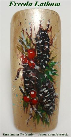 Christmas in the country by FreedaLatham from Nail Art Gallery