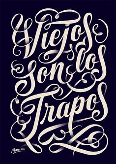 pinterest.com/fra411 #typography #lettering Hand-Lettering by Gustavo Mancini