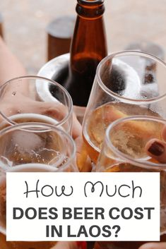 How Much Does Beer Cost in Laos? Laos is a beautiful country to visit with fantastic scenery, #temples, and #waterfalls. But what does a beer cost? Well, the price of the national #beer which is Beerlao in #Laos starts from 9,000 Kip ($1). Let's explore this more! laos travel itinerary   laos travel photography   laos drink beer Beer Tasting, Beer Bar, Most Popular Beers, Gluten Free Beer, Legal Drinking Age, More Beer, Belgian Beer, Gourmet Burgers