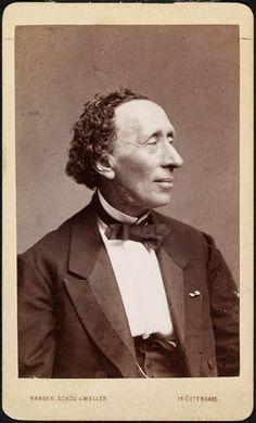Portræt af H.C. Andersen  foto. Hansen, Schou & Weller, 1869